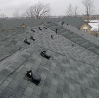 Damaged Roof Vents make easy access for raccoons