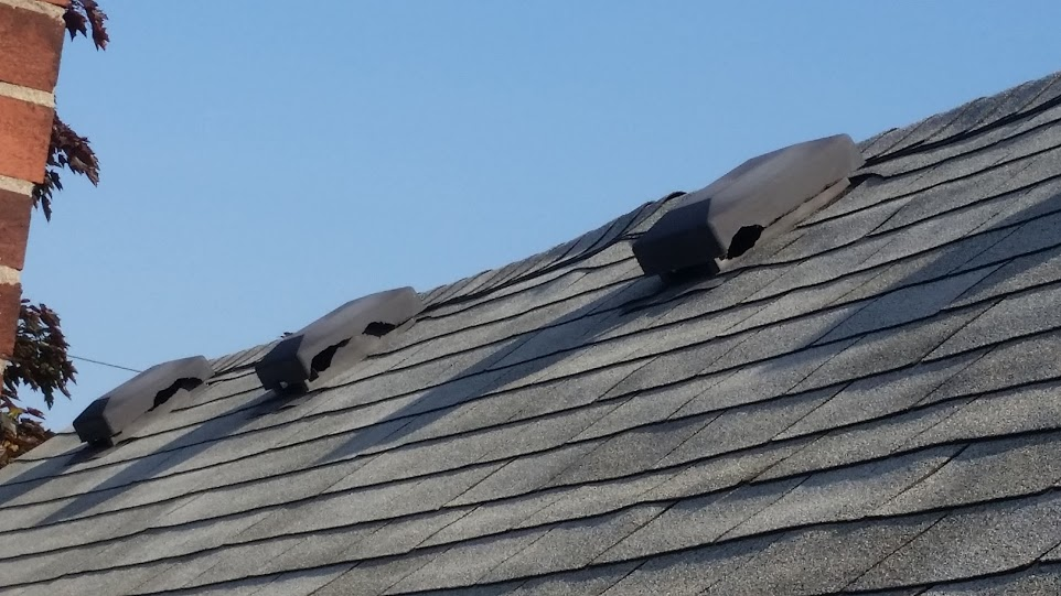 Plastic roof vents are easily chewed and allow squirrels to enter the attic space below.