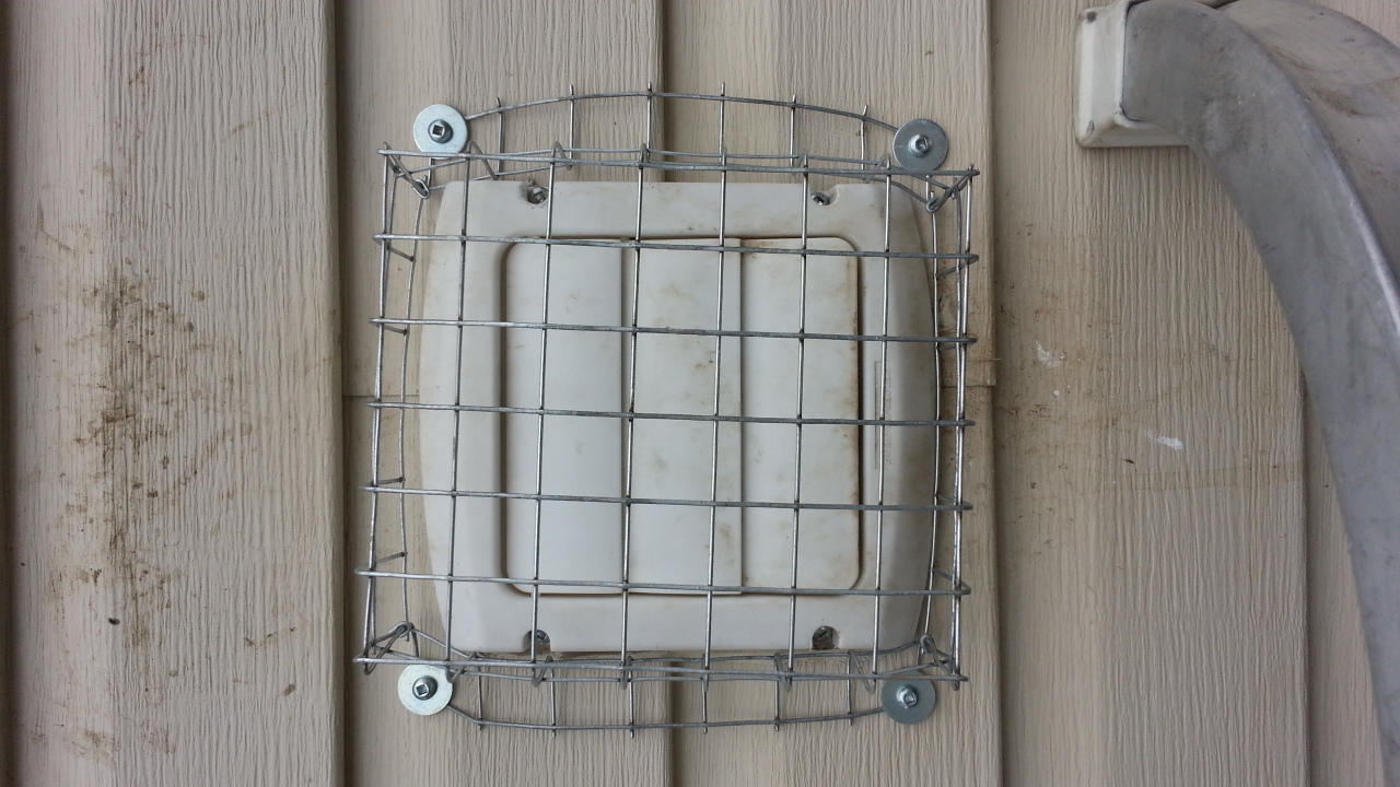 Air vent with screen