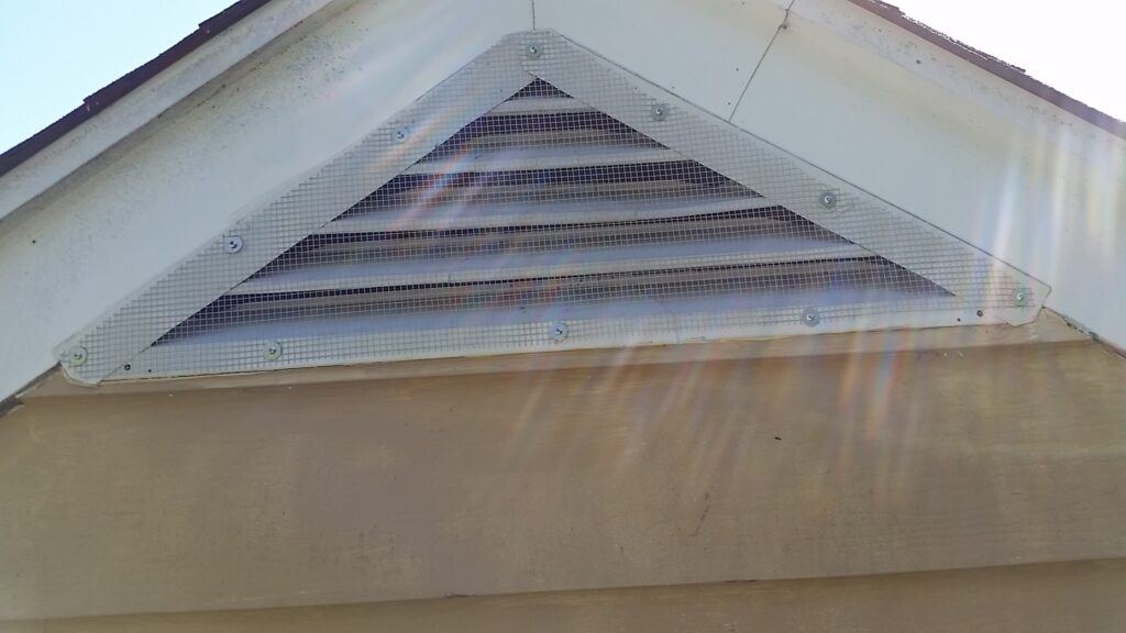Roof vent with screen